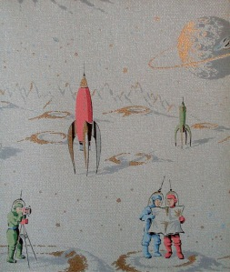 1950 Vintage Space Wallpaper