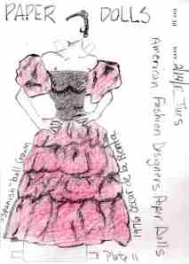"Paper Dolls - 1976 Oscar de la Renta - ""Spanish Ball Gown"""