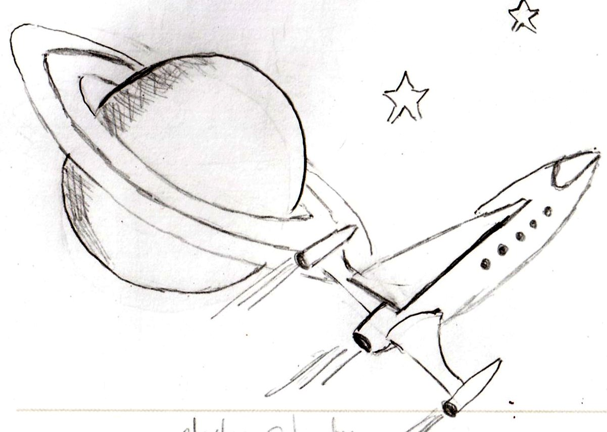 planet saturn drawing - photo #16
